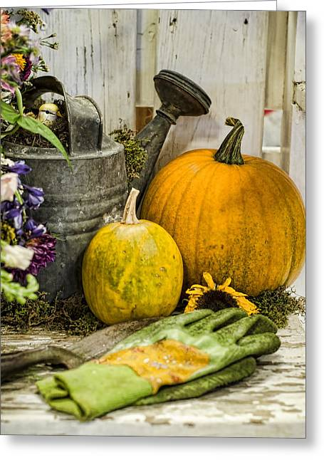 Fall Harvest Greeting Card by Heather Applegate
