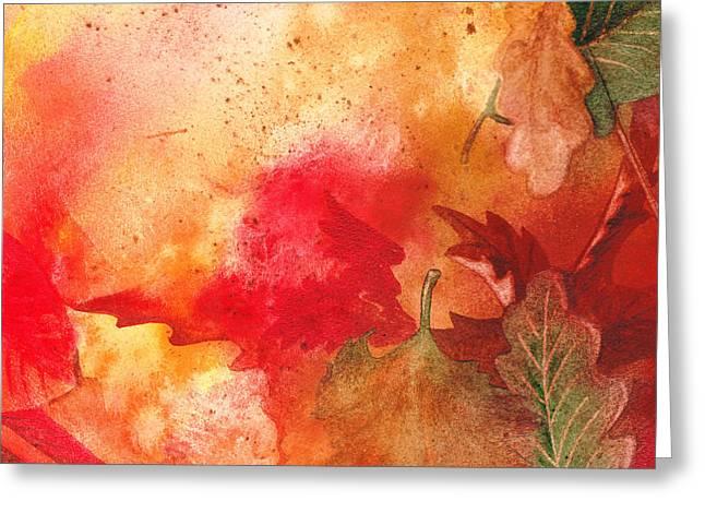 Fall Impressions Greeting Card by Irina Sztukowski