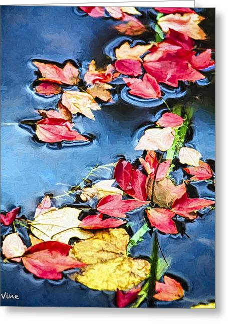 Fall  In Leaves Greeting Card