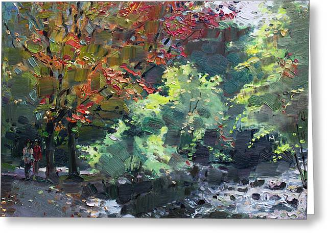 Fall In Mississauga Park Greeting Card by Ylli Haruni