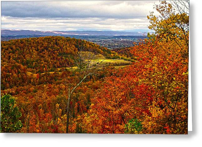 Fall In The Air Greeting Card by B Wayne Mullins