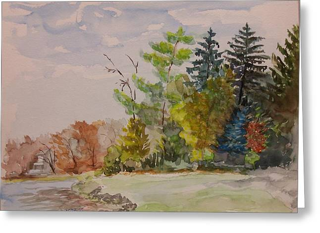 Fall Lake Lucille Greeting Card