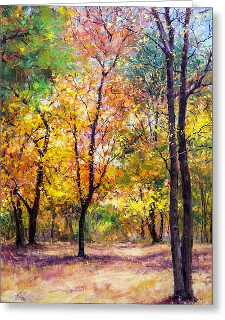 Fall Leaves At Indiana University Greeting Card by Bill Inman