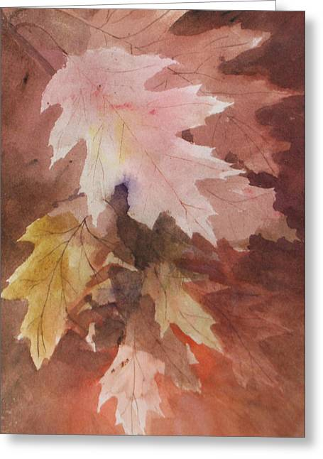 Fall Leaves Greeting Card by Susan Crossman Buscho