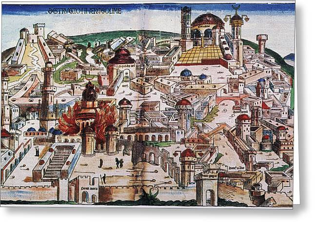 Fall Of Jerusalem And The Destruction Greeting Card