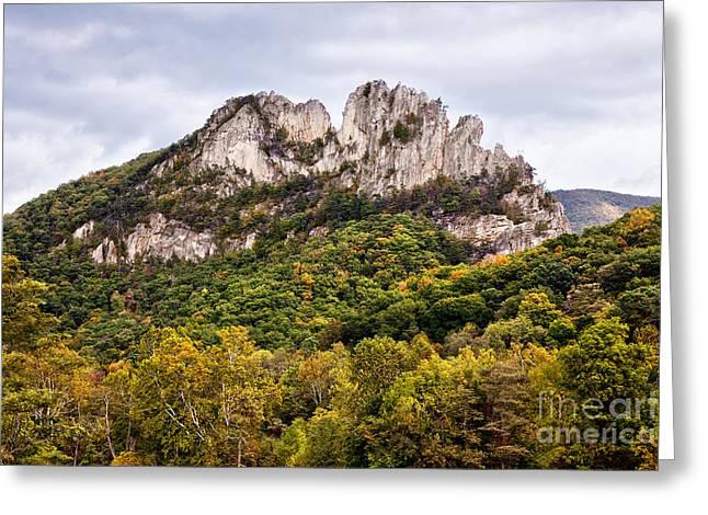Fall On Seneca Rocks West Virginia Greeting Card