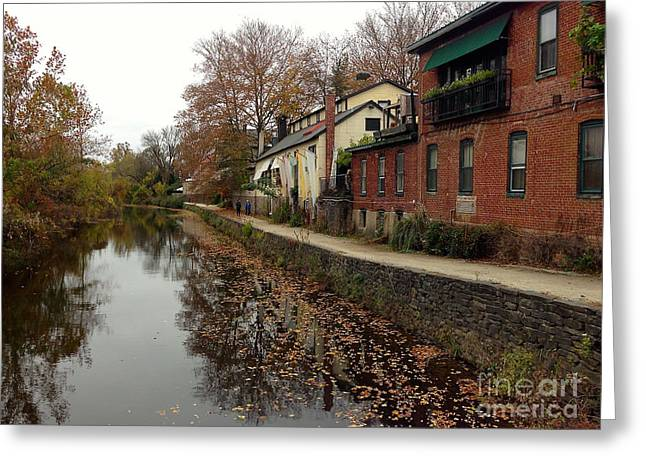 Fall On The Canal Greeting Card