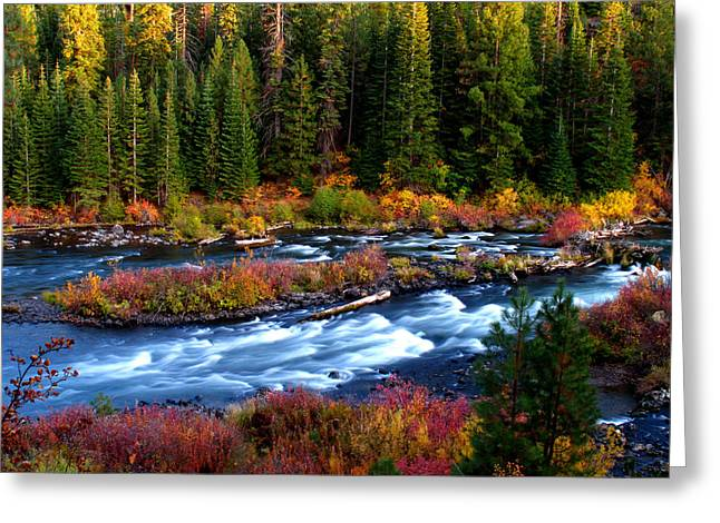 Greeting Card featuring the photograph Fall On The Deschutes River by Kevin Desrosiers