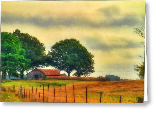 Landscape - Barn - Fall On The Farm Greeting Card by Barry Jones