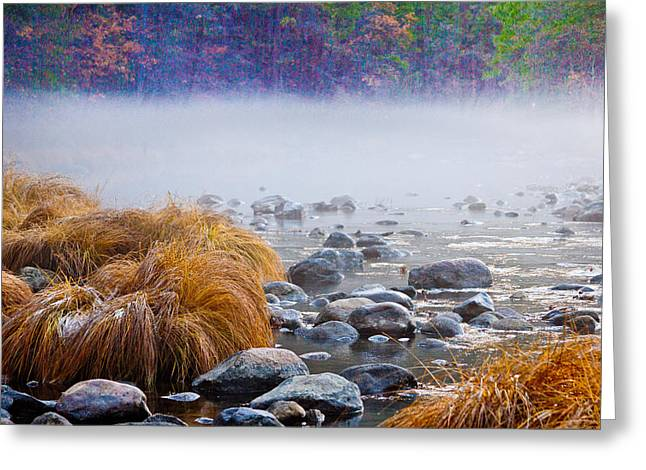 Fall On The Merced Greeting Card by Bill Gallagher
