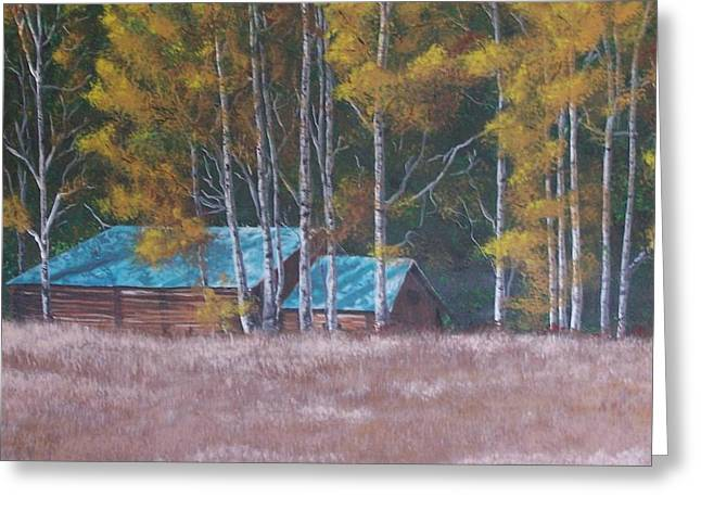 Fall On The Ranch Greeting Card by Gene Ritchhart