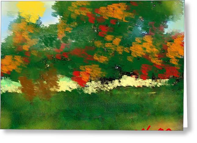 Fall On The Ridge Rd Greeting Card