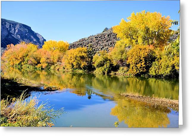 Fall On The Rio Grande Greeting Card