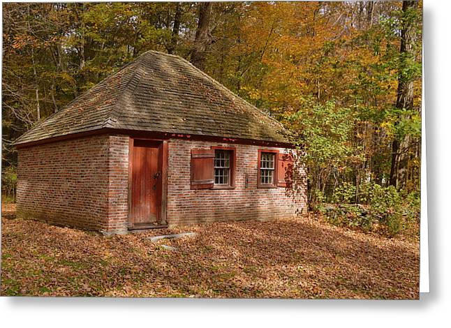 Fall Outbuilding Greeting Card