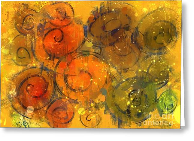 Fall Paint Party Greeting Card by Nancy Aikins