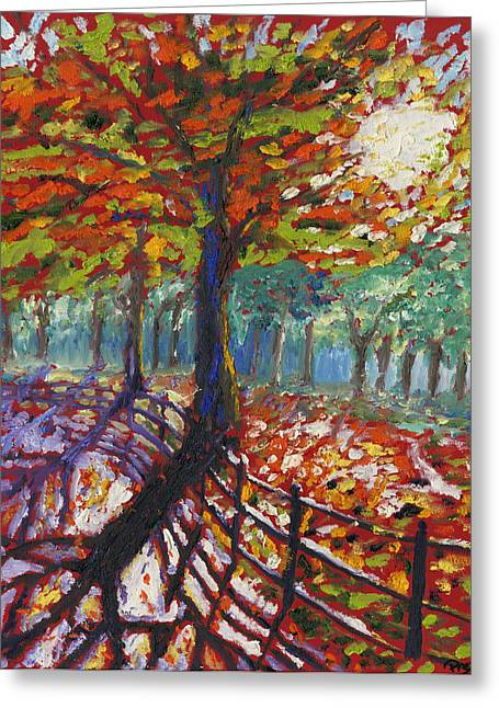 Fall Path Greeting Card by Preston Sandlin