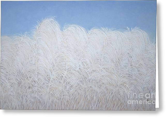 Fall Plumes Greeting Card by Cindy Lee Longhini