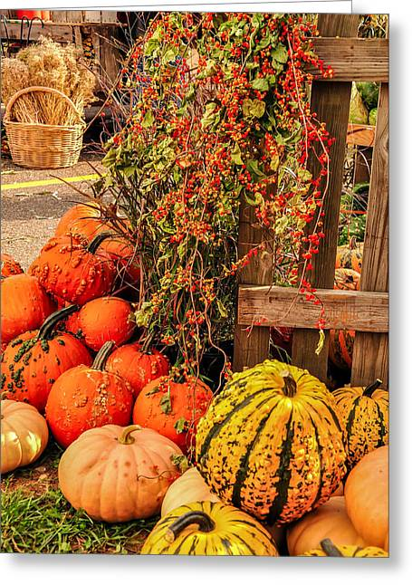 Fall Produce Greeting Card by Gene Sherrill