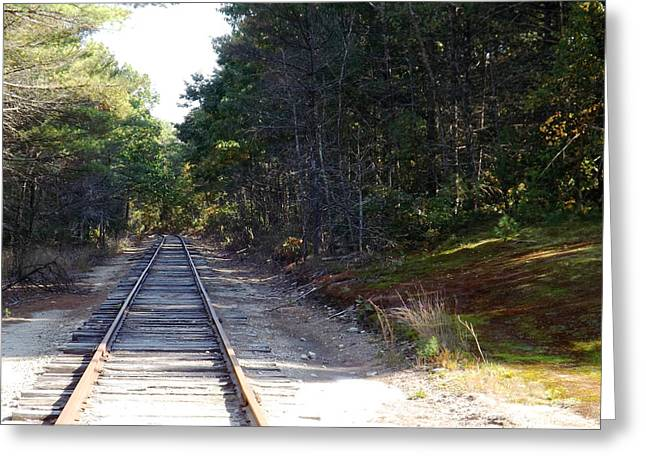 Fall Railroad Track To Somewhere Greeting Card