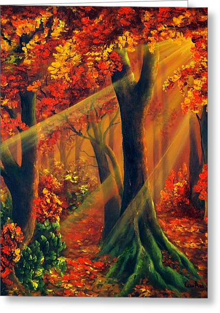 Fall Rays Greeting Card