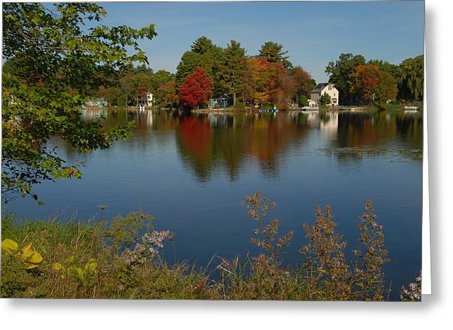 Greeting Card featuring the photograph Fall Reflection by Caroline Stella