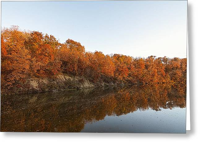 Fall Reflection Greeting Card by Robin Williams