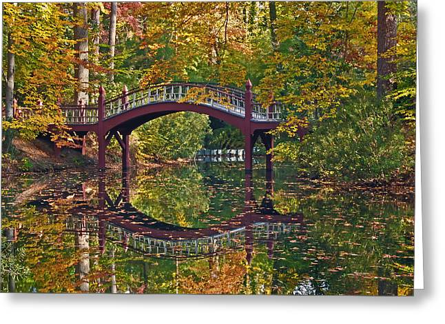 Fall Reflections At Crim Dell Greeting Card by Jerry Gammon