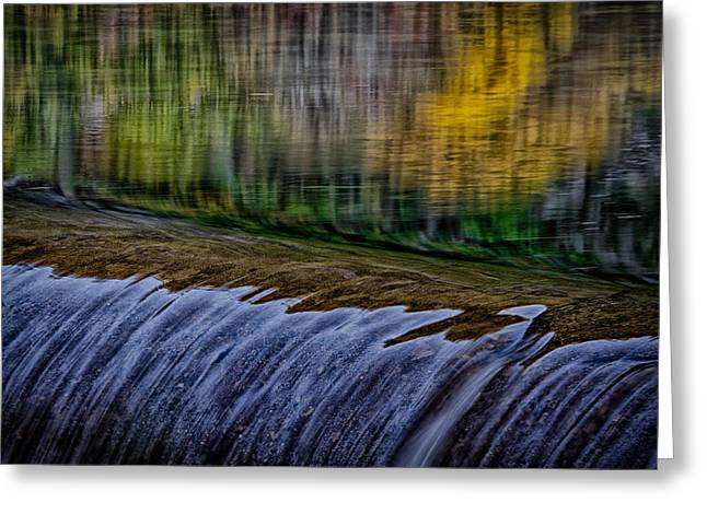 Fall Reflections At Tumwater Spillway Greeting Card
