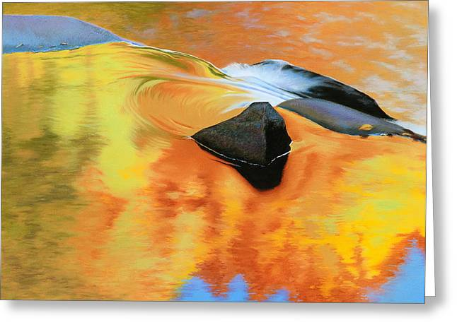 Fall Reflections Greeting Card by Bruce Richardson