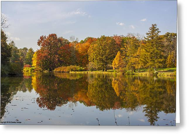 Greeting Card featuring the photograph Fall Reflections by Ed Dooley