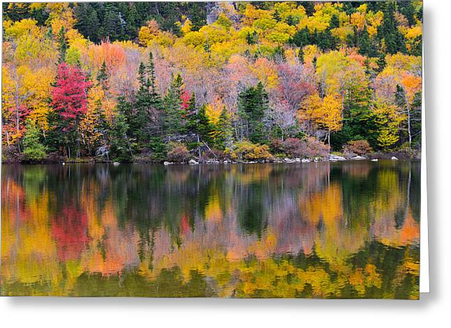 Fall Reflections In Echo Lake Greeting Card