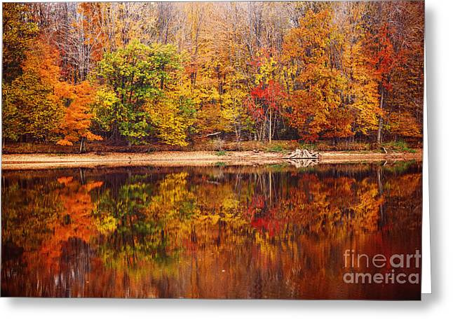 Fall Reflections Greeting Card by Katya Horner