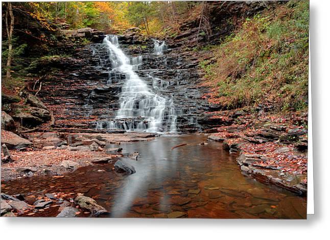 Fall Reflections Of F L Ricketts Falls Greeting Card by Gene Walls