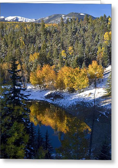 Fall Reflections On Bobcat Pass Greeting Card