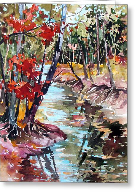 Fall Reflections Greeting Card by Rae Andrews