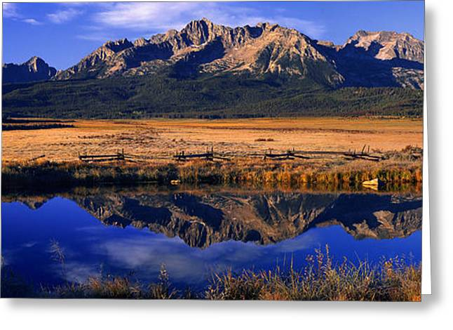 Fall Reflections Sawtooth Mountains Idaho Greeting Card