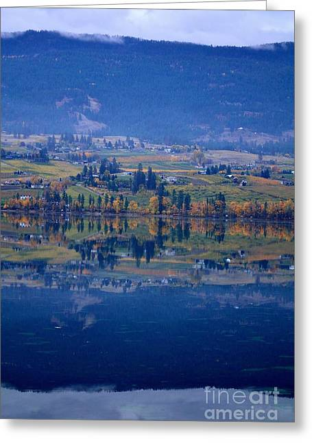 Fall Reflects In Wood Lake Greeting Card