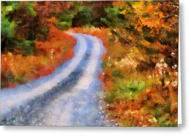 Fall Road To Paradise Greeting Card by Dan Sproul