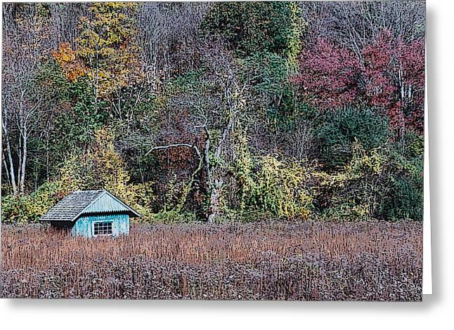 Fall Shed #1 Greeting Card by Glenn Cuddihy