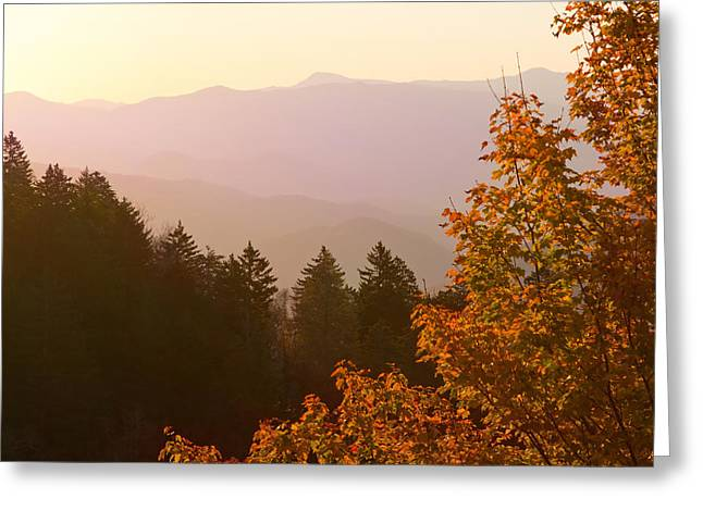 Fall Smoky Mountains Greeting Card by Melinda Fawver