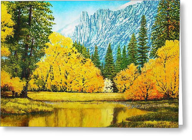 Fall Splendor In Yosemite Greeting Card