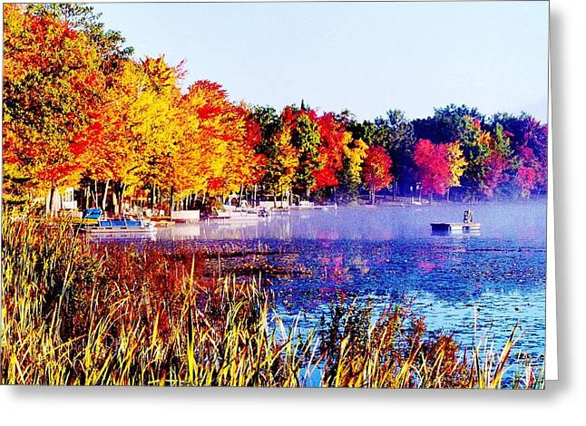 Greeting Card featuring the photograph Fall Splendor Of Mid-michigan by Daniel Thompson