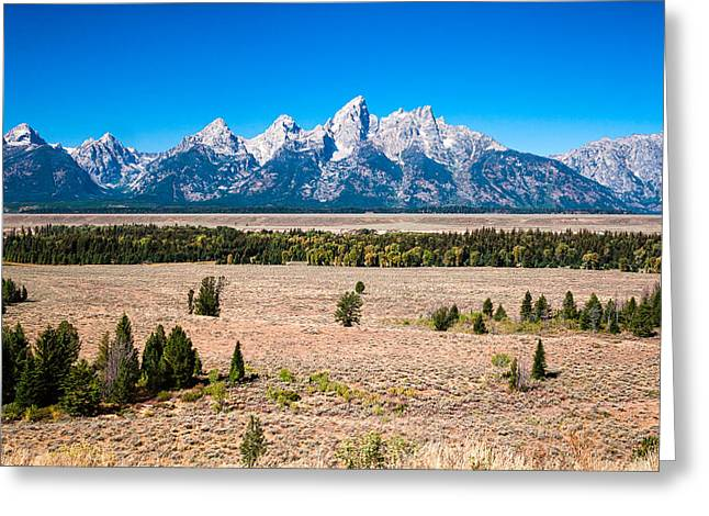 Fall Tetons   Greeting Card by Lars Lentz