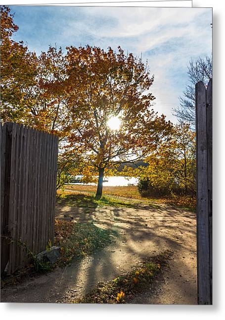 Fall Through The Gate Greeting Card
