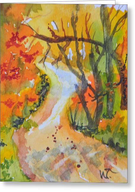 Fall Trail Greeting Card by Warren Thompson