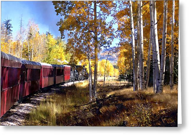 Fall Train Ride New Mexico Greeting Card by Kurt Van Wagner