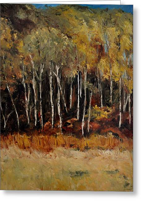 Fall Trees Number Two Greeting Card by Lindsay Frost