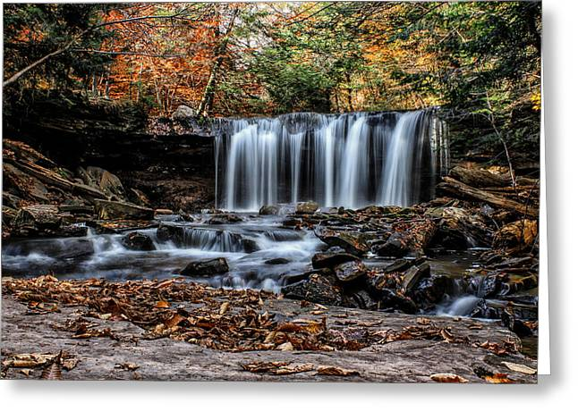 Greeting Card featuring the photograph Fall Water by David Stine
