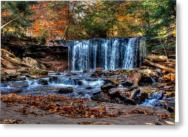Greeting Card featuring the photograph Fall Water Fantasy by David Stine