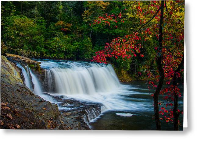 Fall Waterfall Greeting Card by Griffeys Sunshine Photography